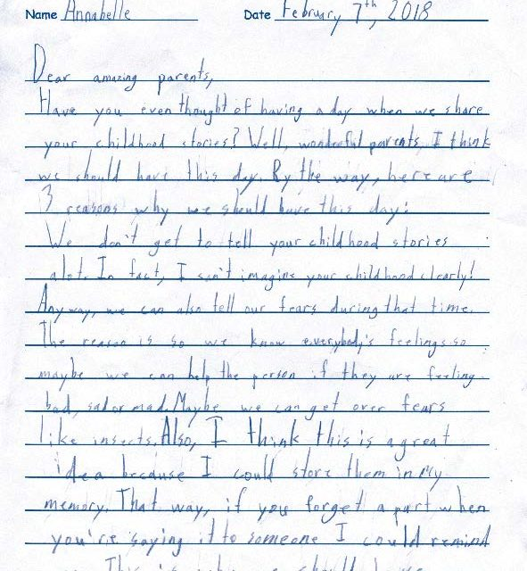 If Only… Second Graders Try Persuasion