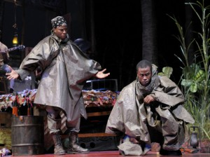 Okieriete Onaodowan and Jason Bowen in Lynn Nottage's Ruined (2011)